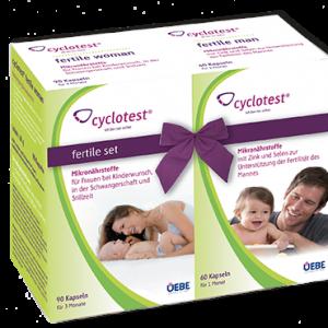 cyclotest fertile set für Frau und Mann bei Kinderwunsch.