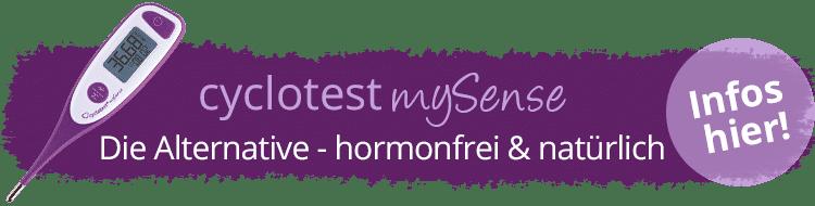 cyclotest mySense ist die Alternative für die natürliche Verhütung.