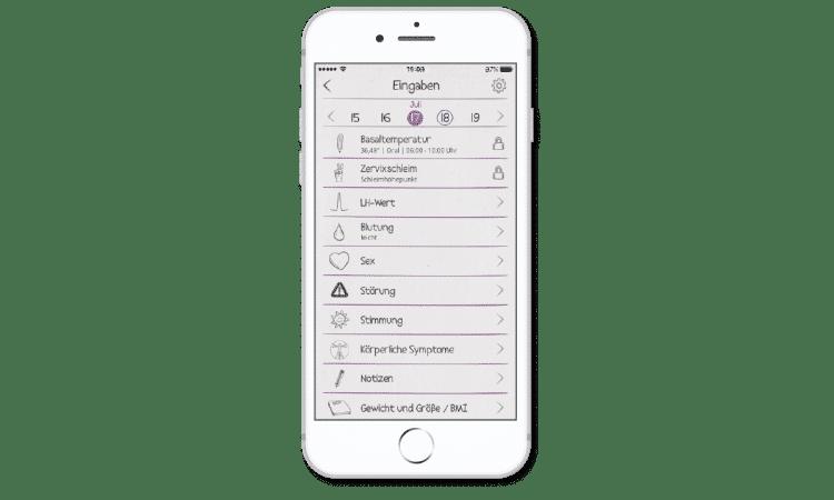 cyclotest mySense - Eingabemöglichkeiten