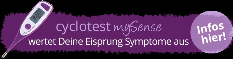 cyclotest mySense wertet die Eisprung-Symptome aus.
