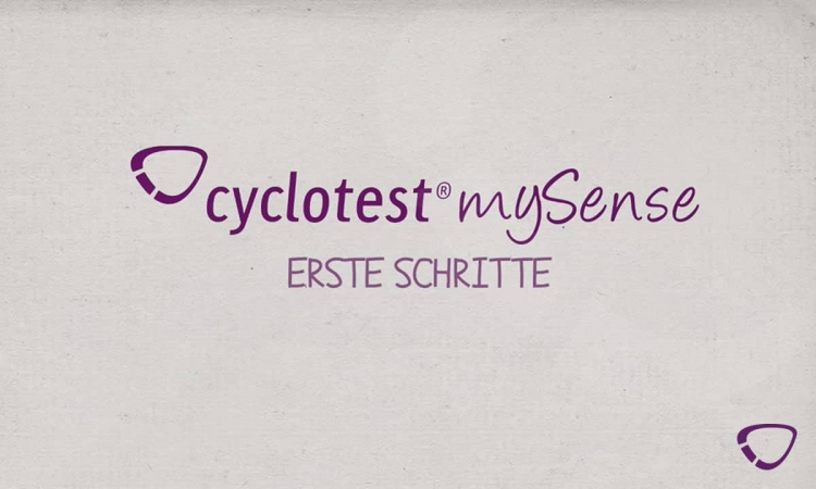 Die ersten Schritte mit cyclotest mySense