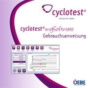 Cover der Gebrauchsanweisung für cyclotest mySoftware.