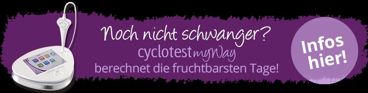 cyclotest myWay berechnet die fruchtbarsten Tage.
