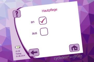 Die Hauptpflege-Funktion bei cyclotest myWay aktivieren.