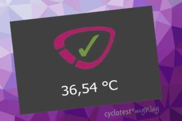 cyclotest myWay nach erfolgreich abgeschlosssener Temperaturmessung