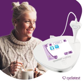 Bei Endometriose treten oftmals Zwischenblutungen auf. Mit cyclotest myWay kann man diese dokumentieren.