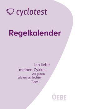Vorderseite des cyclotest Regelkalenders