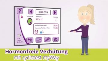 Mit cyclotest myWay ist eine hormonfreie Verhütung möglich.