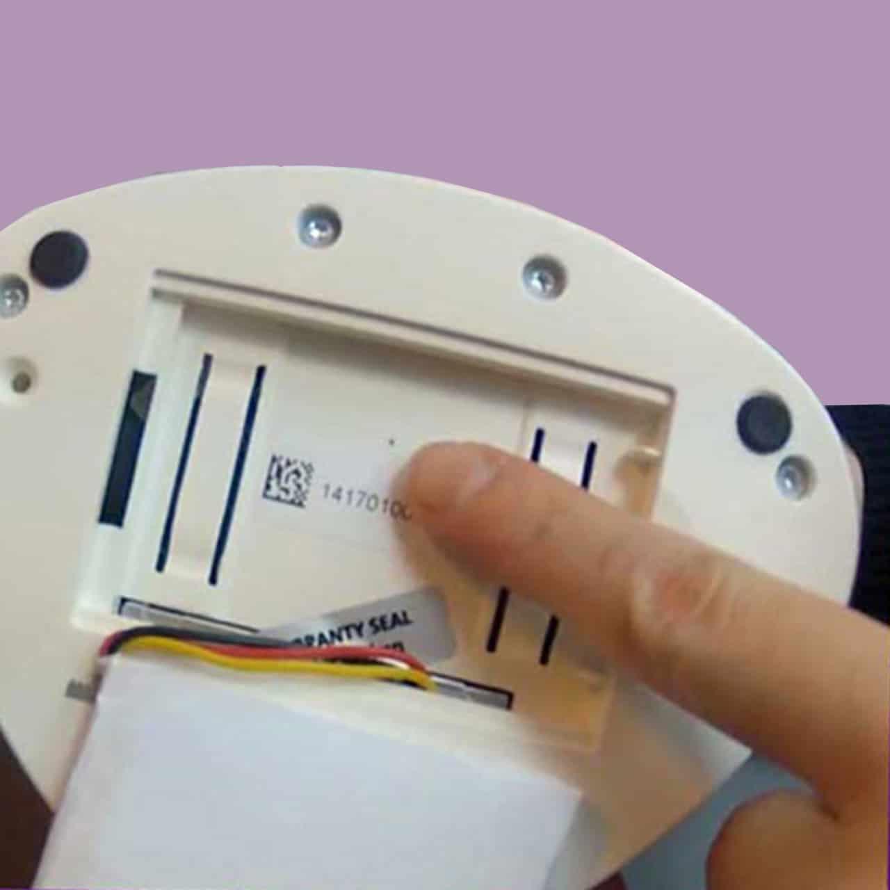 cyclotest myWay lässt sich im Akkufach an der Rückseite neu starten.