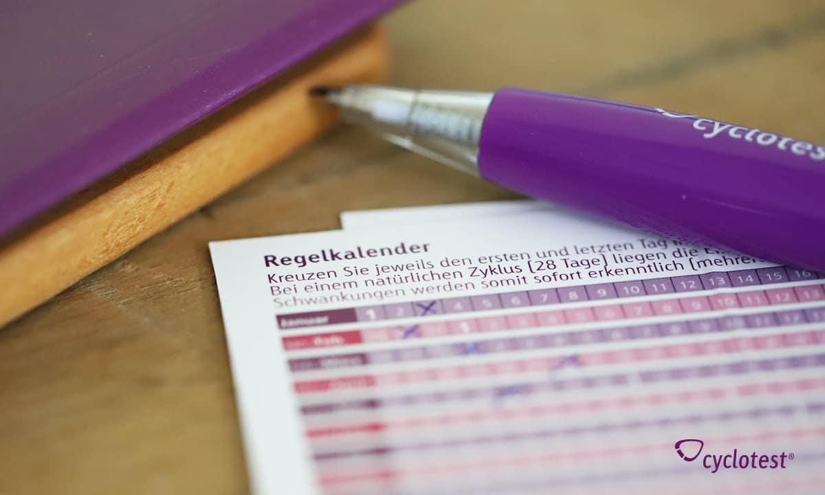 Kann man mit dem Regelkalender die Periode berechnen?