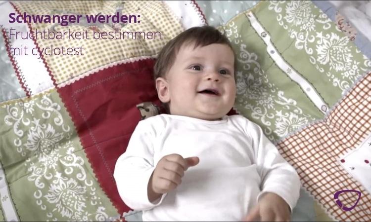 Das Video zeigt, wie man schnell schwanger wird mit cyclotest myWay.
